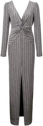 Rachel Zoe Nava metallic stretch gown