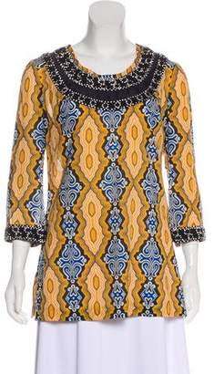 Tory Burch Embellishment Printed Tunic