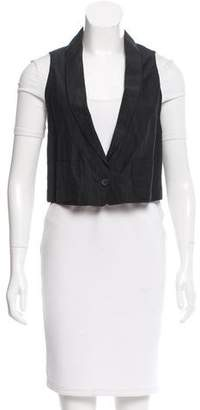 Nina Ricci Tie-Accented Cropped Vest w/ Tags