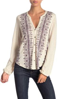 Lucky Brand Knit Button Front Top
