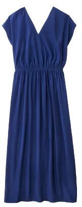 Women's Plus Size Short Sleeve Draped Maxi Dress