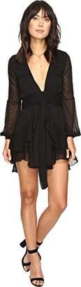 For Love & Lemons Women's Tarta Long Sleeve Mini Dress