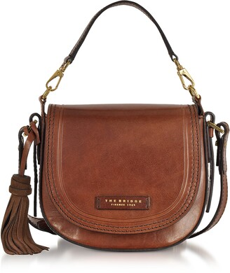 The Bridge Medium Leather Messenger Bag w/Tassels