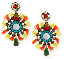 Ranjana Khan Isabel Tassel Statement Clip-On Earrings