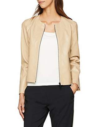 Armani Exchange Women's 8nyb03 Jacket, (Beige Nude 1741), Large