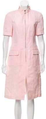 Rena Lange Short Sleeve Knee-Length Dress