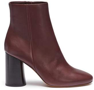 Vince 'Ridley' wooden heel leather ankle boots