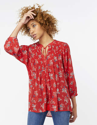 Monsoon Reina Print Longline Top