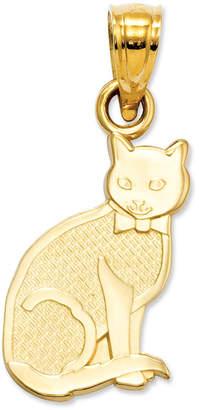 Macy's 14k Gold Charm, I Heart My Cat Charm