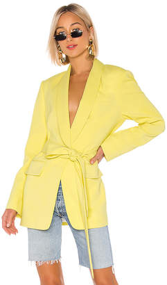 Tibi Stretch Viscose Suiting Oversized Tuxedo Blazer