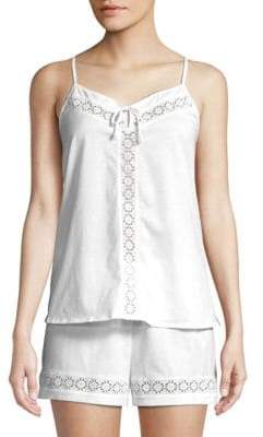 Hanro Cotton Eyelet Pajama Set