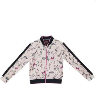 Juicy Couture Butterfly Garden Satin Track Jacket for Girls