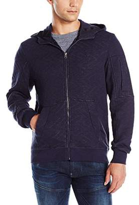 G Star Men's Batt Full Zip Utah Jacquard Quilted Sweatshirt Hoodie