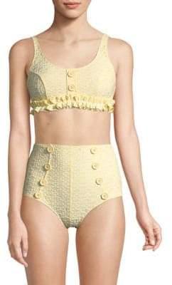 Lisa Marie Fernandez Colby Ruffle Bikini