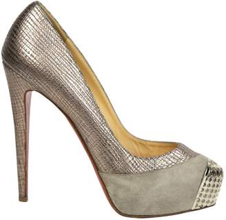 Christian Louboutin Grey Leather Heels