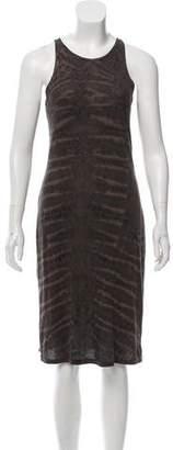 Raquel Allegra Abstract Knee-Length Dress