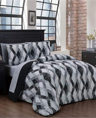 Geneva Home Fashion Azra 8-Pc King Bed in a Bag Bedding