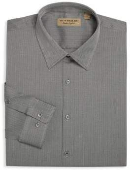 Burberry Modern-Fit Herringbone Dress Shirt