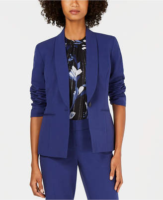 Nine West One-Button Shawl-Collar Stretch Jacket