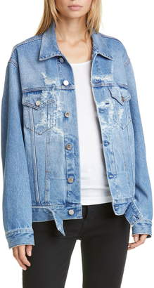 Vetements Anarchy Ripped Denim Jacket