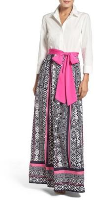 Women's Eliza J Maxi Shirtdress $178 thestylecure.com