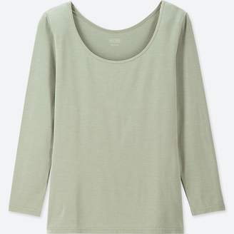 Uniqlo WOMEN HEATTECH Scoop Neck T-Shirt