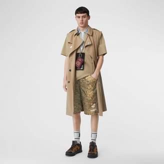 Burberry Tiger Print Nylon Shorts