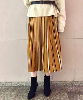 Loungedress (ラウンジドレス) - ラウンジドレス マルチストライププリーツスカート