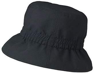セルヴァン 風で飛びにくいポケッタブル日よけ帽子 クロ