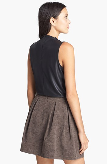 Leith Mock Neck Coated Jersey Top
