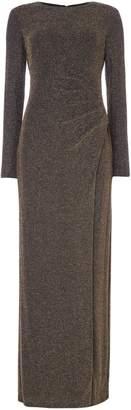 Lauren Ralph Lauren Long sleeve matallic knitted gown