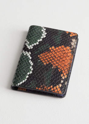 And other stories Snake Embossed Leather Cardholder