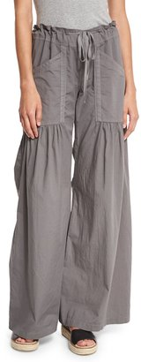 XCVI Willowy Wide-Leg Drawstring Cargo Pants, Sprout $89 thestylecure.com