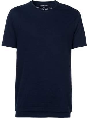 flipped logo T-shirt - Blue Neil Barrett Clearance Visit New Huge Surprise Online 3S3xkzwRp