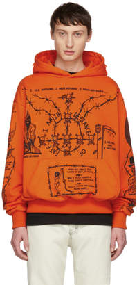 Warren Lotas Orange Sabata Hoodie