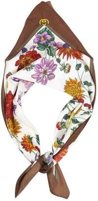 Gucci Vintage White Silk Scarves