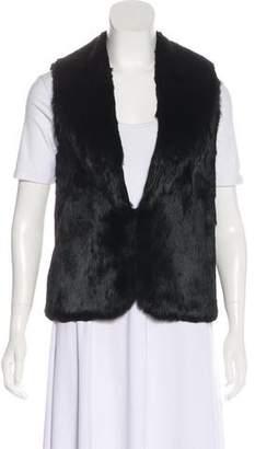 Elizabeth and James Shawl-Lapel Fur Vest