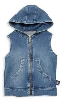 Nununu Little Kid's & Kid's Hooded Denim Vest