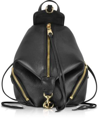 Rebecca Minkoff Black Leather Convertible Mini Julian Backpack
