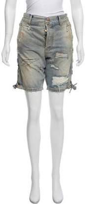 Faith Connexion Distressed Knee-Length Shorts w/ Tags