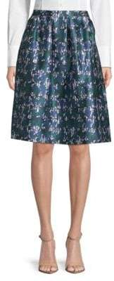 Oscar de la Renta Abstract-Print Skirt
