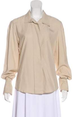 Ellen Tracy Linda Allard Silk Long Sleeve Top