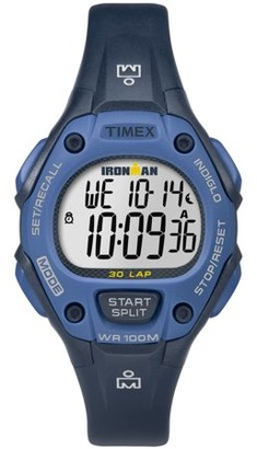 Timex Women's Ironman Classic 30 Mid-Size Blue Watch, Resin Strap