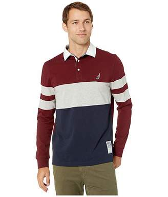 Nautica Chest Stripe Rugby Polo Shirt