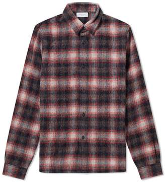 John Elliott Wool Flannel Check Overshirt