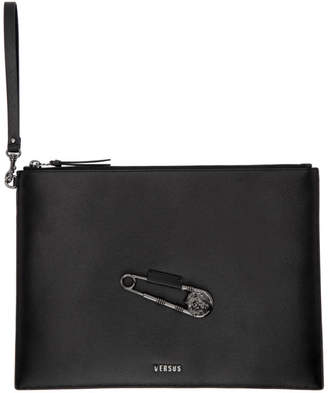 Versus Black Safety Pin Pouch