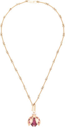 Aurelie Bidermann Ladybug Pendant Necklace