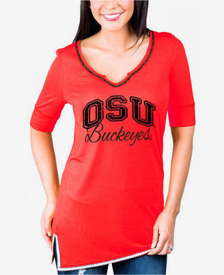 Couture Gameday Women's Ohio State Buckeyes Beaded Neckline T-Shirt