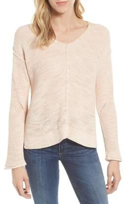 Caslon Marl V-Neck Sweater (Regular & Petite)