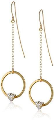 "Kris Nations Angel Fire"" Swarovski Crystal Circle Stone Thread Drop Earrings"